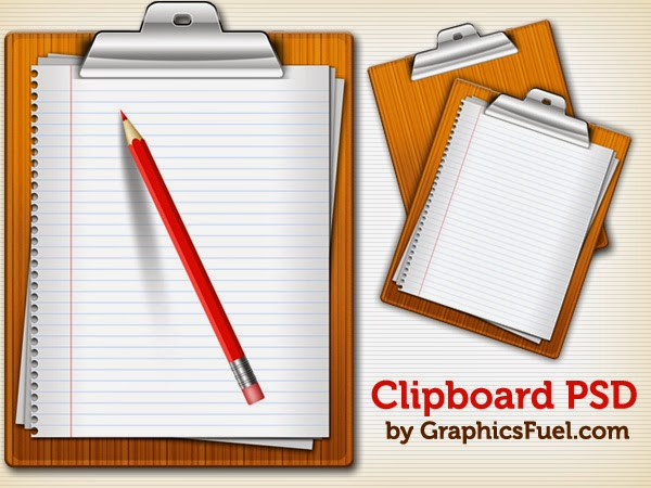 Clipboard Icons PSD