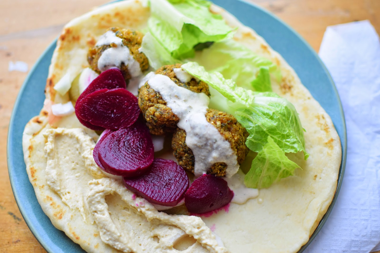 Vegan Falafel With Tahini Sauce