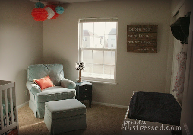 navy orange light blue nursery