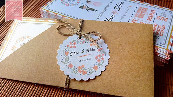 Airmail, Wedding Cartoon Invitation, floral, flower, Wedding Pocket Invitation, unique, Wedding Modern Invitation, Malay Wedding Invitation, Chinese Wedding Invitation, Church Wedding Invitation,