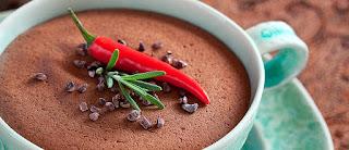 Musse de chocolate com pimenta light