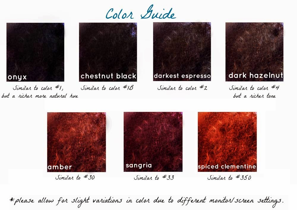 Amacci Hair Color Chart