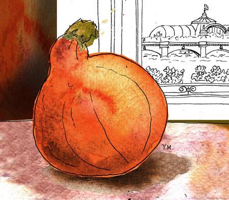 Halloween Pumpkin by Yukié Matsushita, Illustrator in Paris 2012