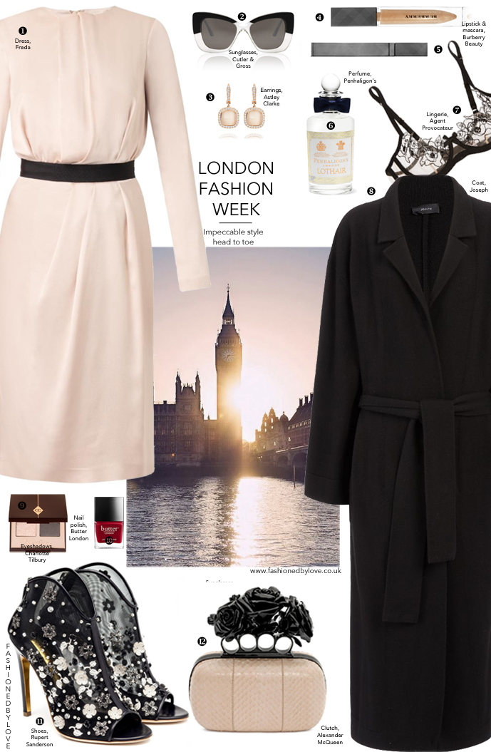 Outfit inspiration - LFW / London fashion week outfits and what to wear ideas / Joseph, Freda, Rupert Sanderson, Burberry, McQueen / via fashionedbylove.co.uk british fashion blog