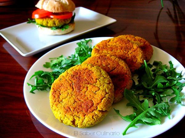 Hamburguesas de jud as blancas con verduras y queso - Hamburguesa de verduras ...