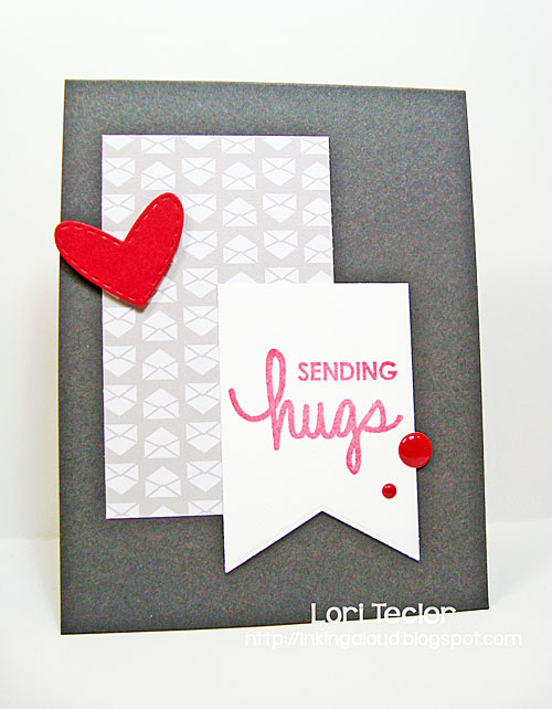Sending Hugs card-designed by Lori Tecler/Inking Aloud-stamps from Technique Tuesday