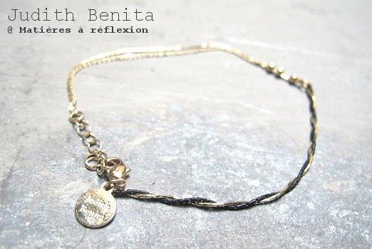 Bracelet plaqué or Judith Benita