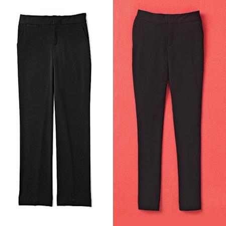 широк панталон – тесен панталон тип клин