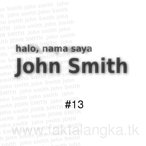 Fakta Unik Nama John Smith