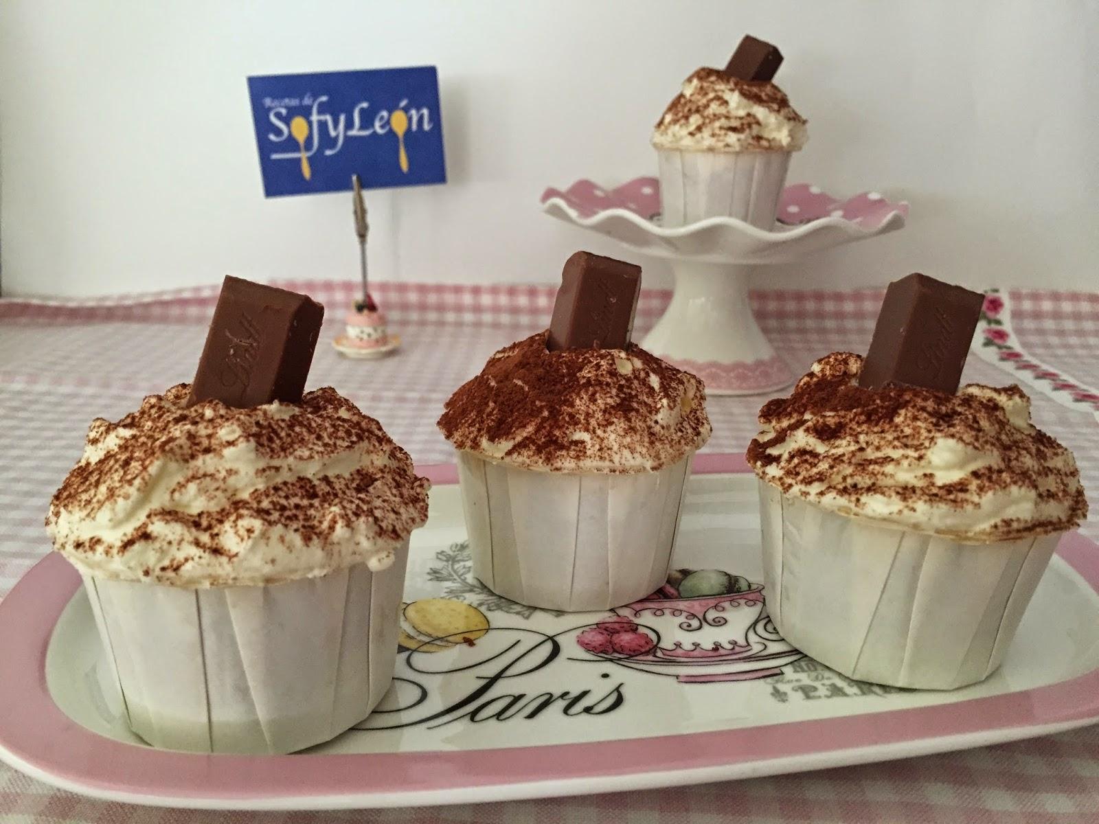 Cupcakes de crema de orujo y Capuccino.