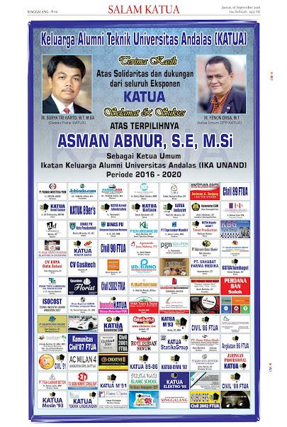 Selamat dan Sukses Buat Kakanda Asman Abnur