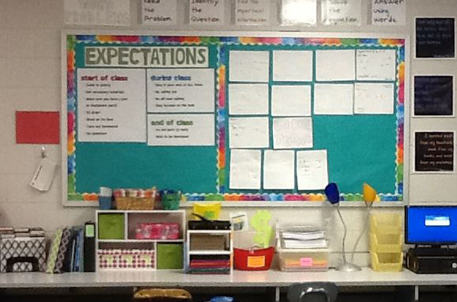 Classroom Decor Math ~ Everybody is a genius classroom expectations
