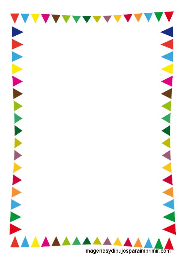 Folios infantiles para imprimir imagenes y dibujos para for Bordes creativos