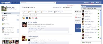Lihat di sing sebelah kiri profil anda dan klik kata &; tambah