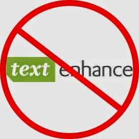 Just say no to text-enhance