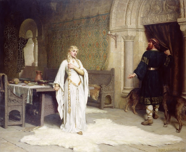 lady godiva,Edmund Blair Leighton,cute painting