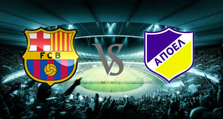 Prediksi Bola Barcelona vs APOEL 18 September 2014