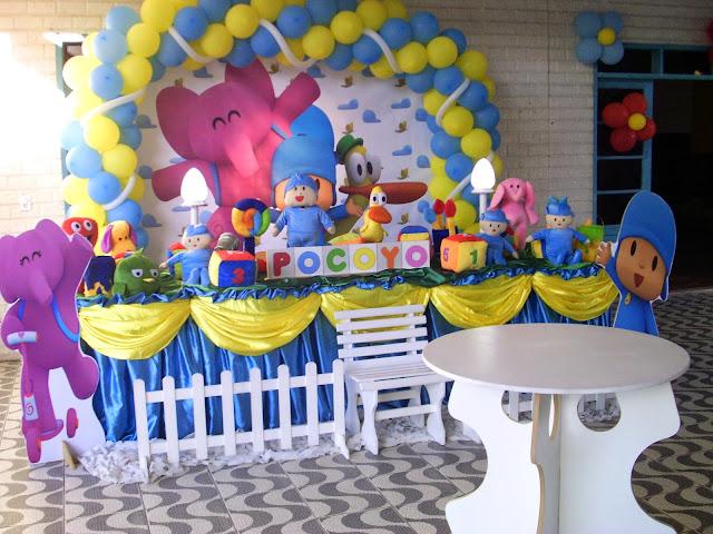 decoração de festa infantil para aniversário - Pocoyo
