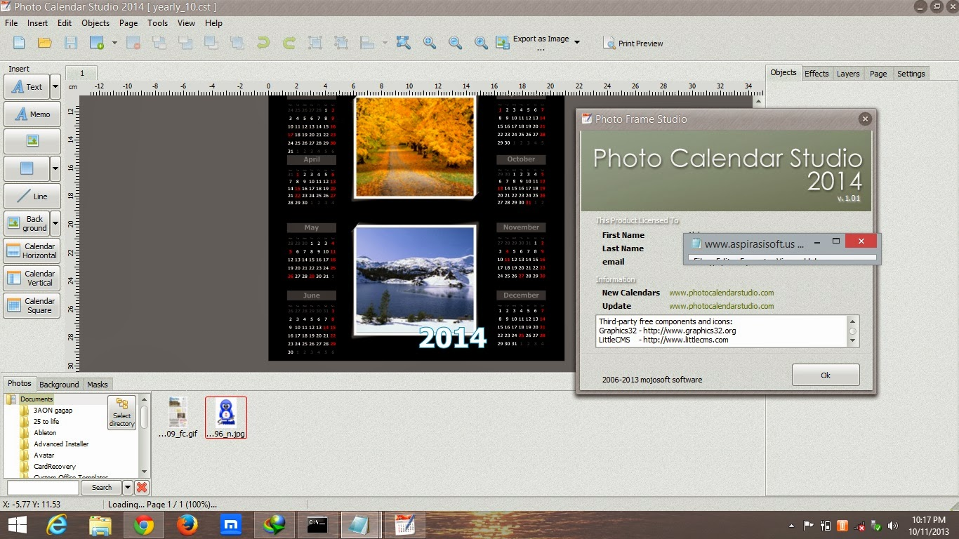 Free photo calendar maker software Cached