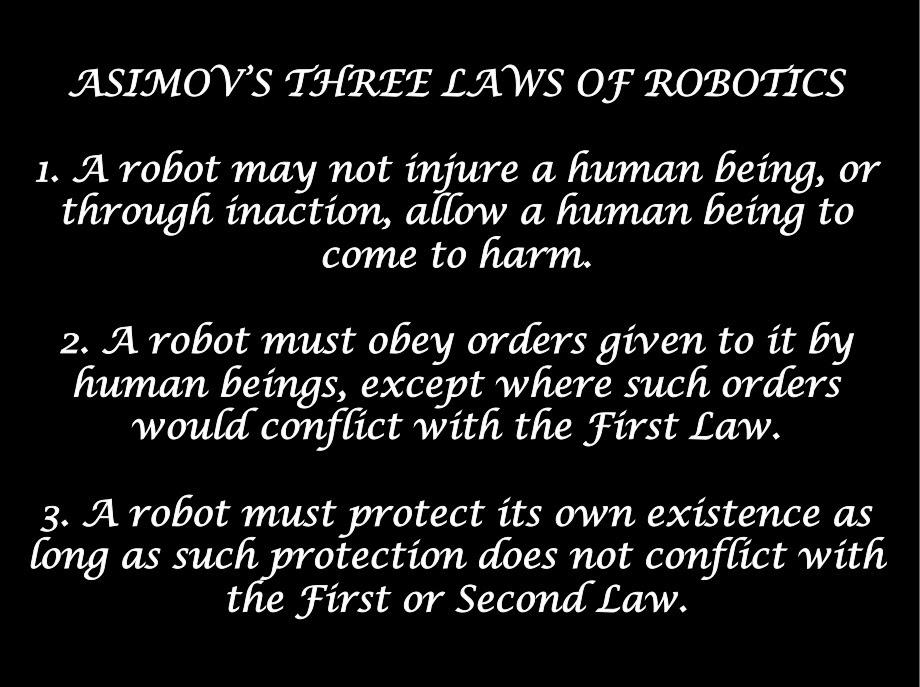 3 rules of robotics
