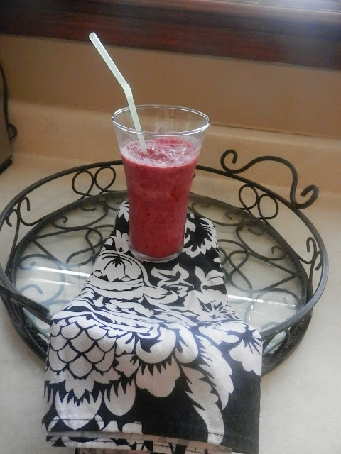 This is an awesome Berry Smoothie! Did I mention its low fat? This Berry Smoothie only takes 5 minutes to make; you can't beat that! You can do this in the several of the flavors and mix with your favorite fruit as well!  I have also made this with Kool-Aid Tropical punch singles.
