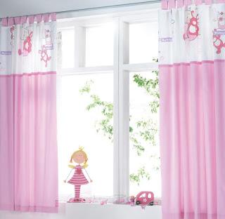Cortina rosa para quartos de bebes femininos