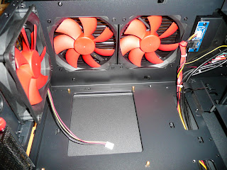 Chieftec Libra Midtower top fans inside case