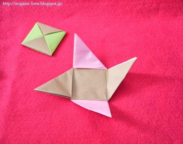 すべての折り紙 折り紙 ひな人形 作り方 : ... 折り紙」ひな人形の座布団の