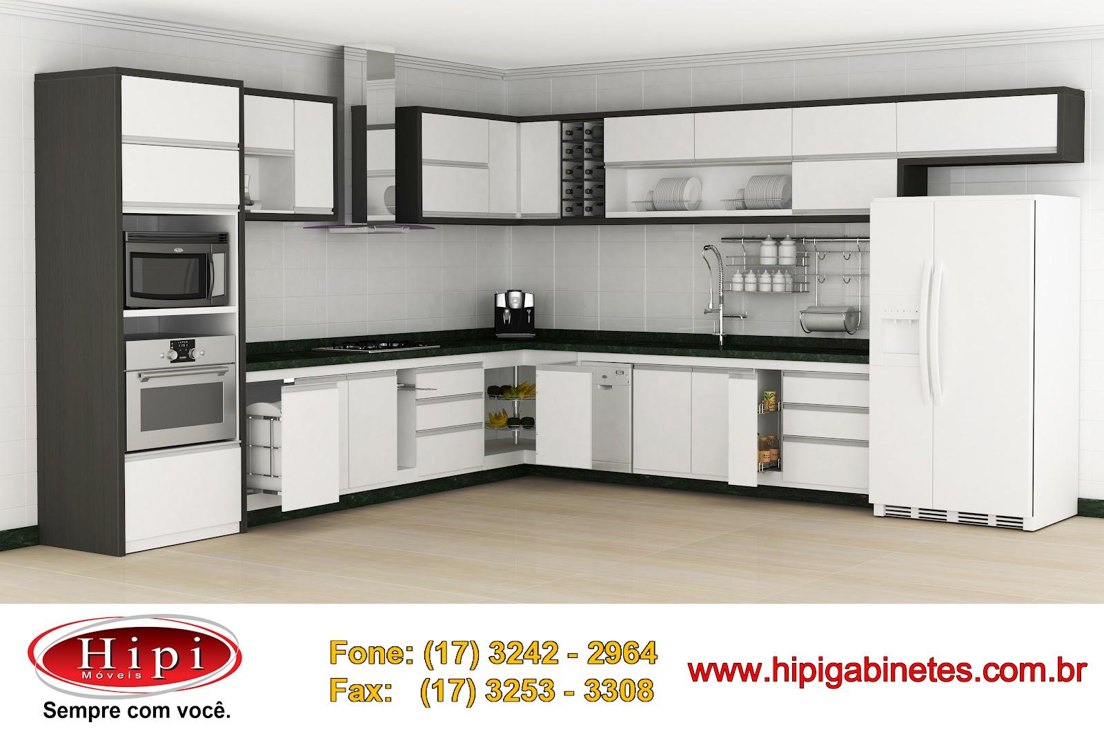Hipi: Cozinhas Planejadas Hipi Móveis #B48B17 1600 1067