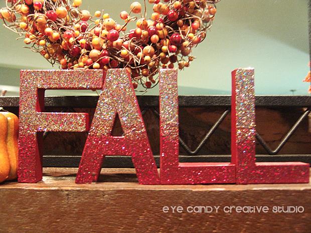 fall letters, pumpkins, fall word art, fall mantle decor, fall, glitter letters