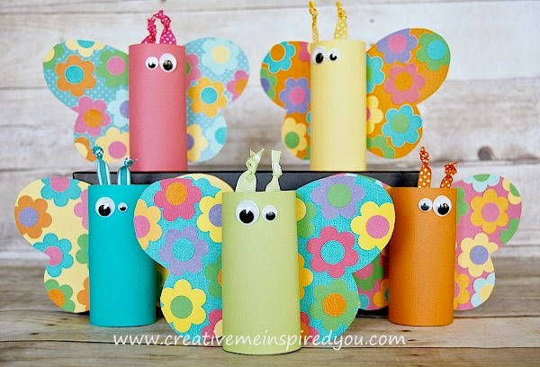 http://creativemeinspiredyou.com/toilet-paper-tube-butterflies/