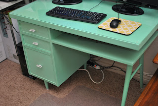 TICKET TUESDAY Mint Green Mid Century Desk