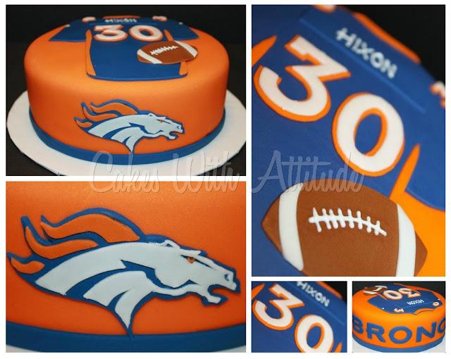 Denver Bronco Jersey Cake