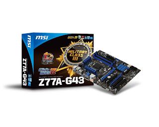 Placa Mãe MSI Z77A-G43 Drivers - Windows