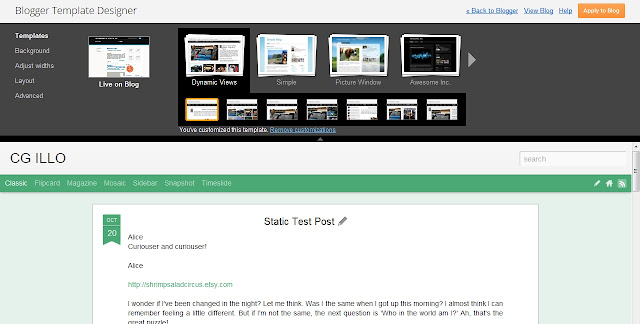 Blogger Built In Template Designer Dashboard