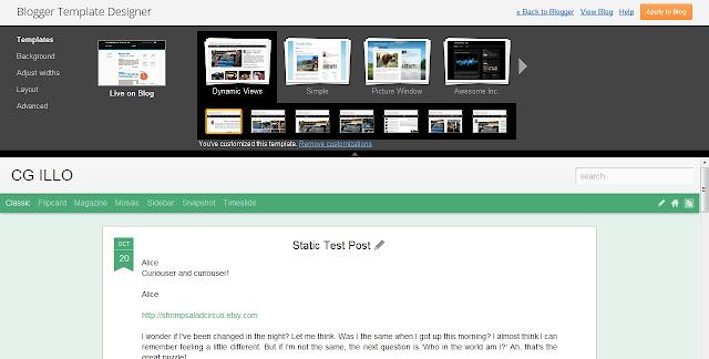 Blogger Built In Template Designer Dashboard