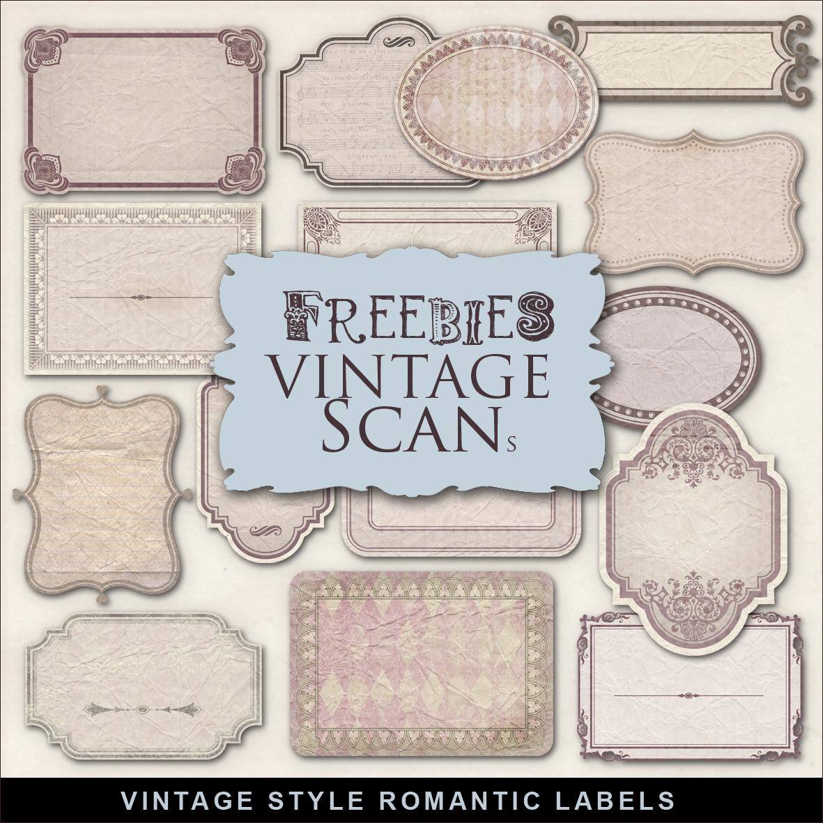 Freebies Kit of Romantic Vintage Style Labels:Far Far Hill - Free ...