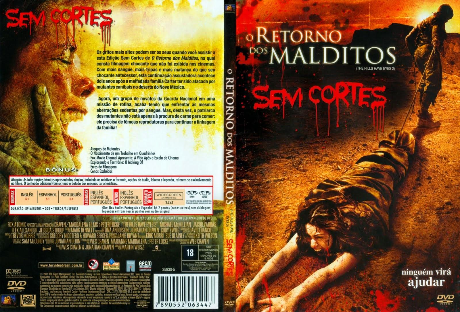 Filme O Retorno Dos Malditos DVD Capa