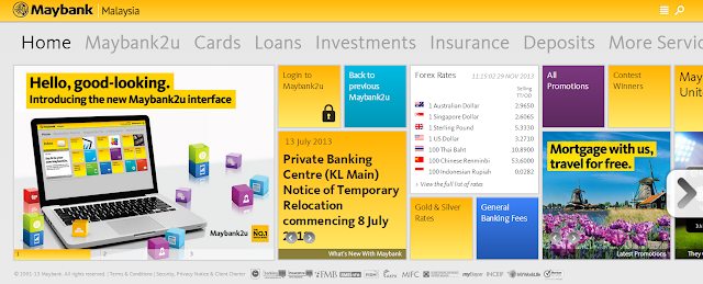 Revamped Maybank2u website