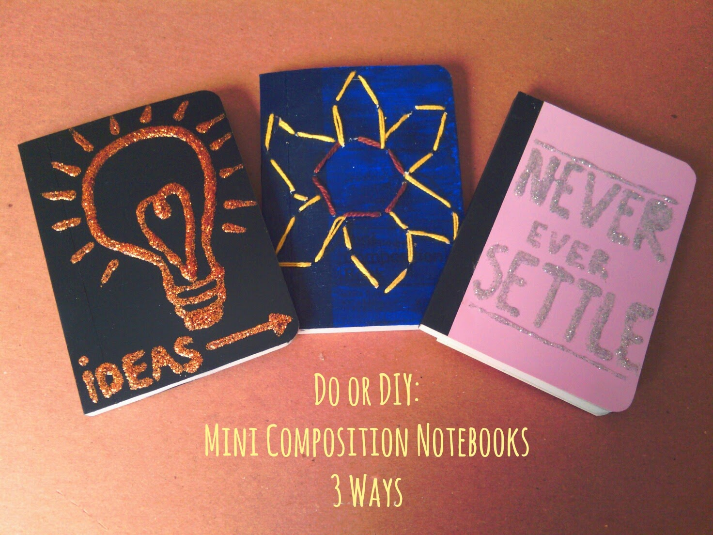 Alice In Wonderland Book Cover Ideas ~ Do or diy: mini composition notebooks in 3 ways bunny & fawn