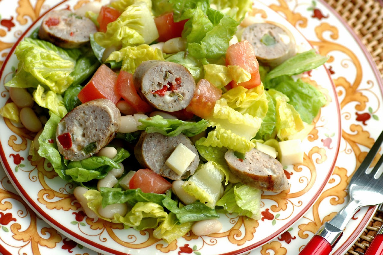 After looking over several antipasto salad recipes, I combined the ...