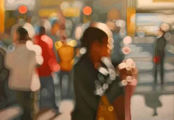 Artista cria incríveis pinturas inspirado em efeito de falta de foco de fotografias