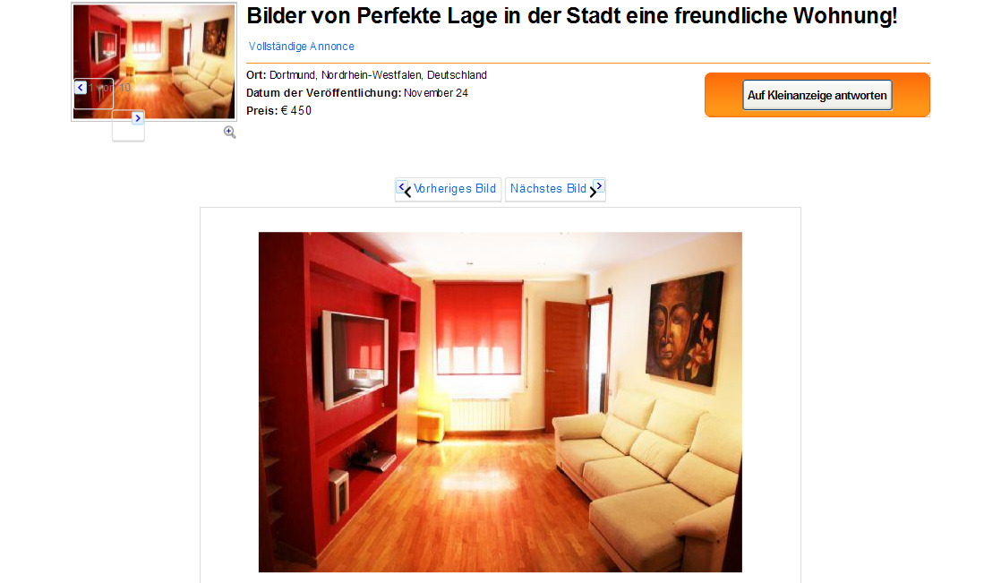 informationen ber wohnungsbetrug informations about rental scam seite 440. Black Bedroom Furniture Sets. Home Design Ideas