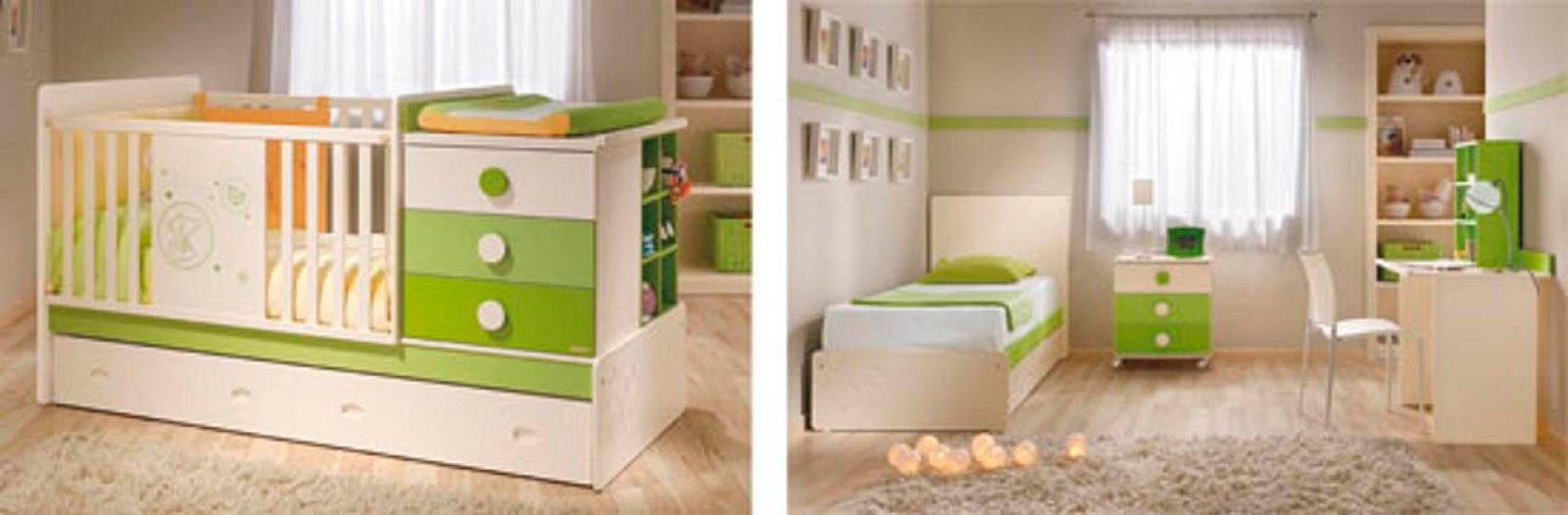 Habitaci n del beb habitacion del bebe con cunas funcionales - Muebles para la habitacion del bebe ...
