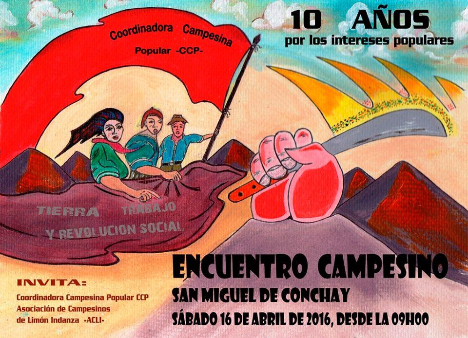 Encuentro Campesino por los 10 de la CCP