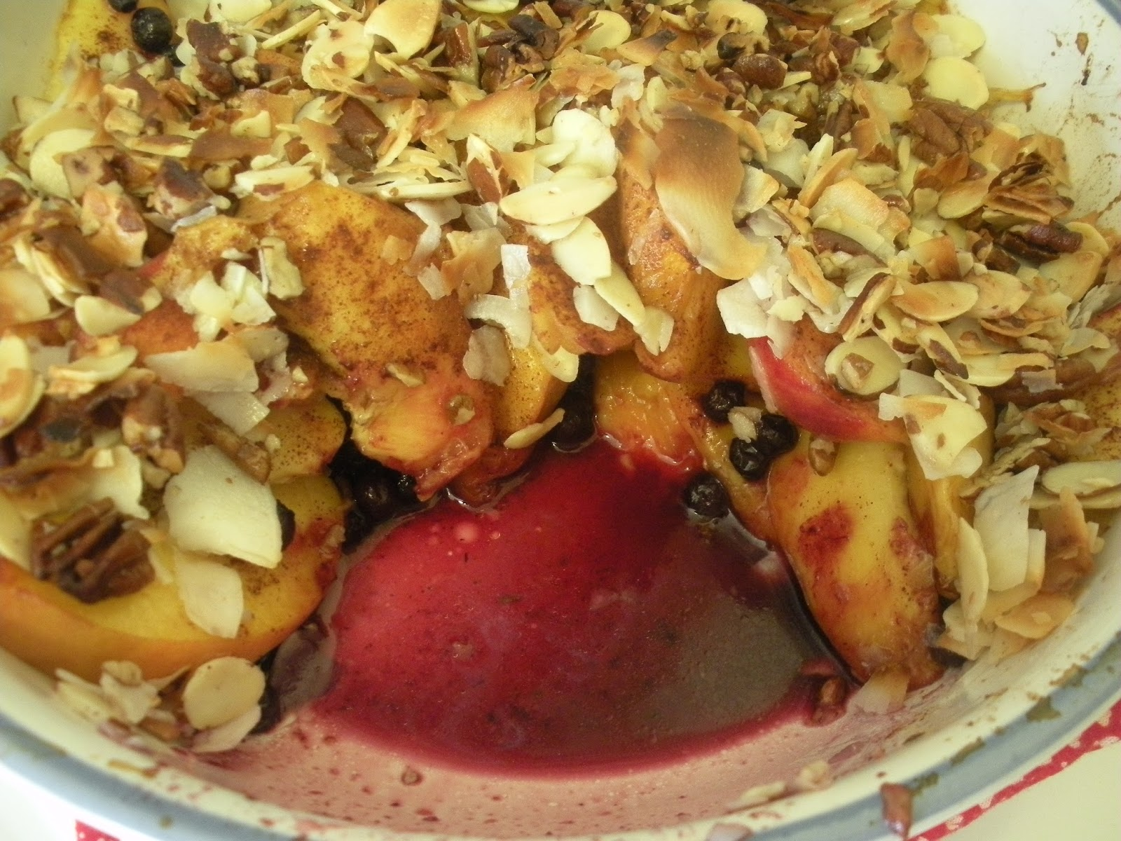 Domestic 360: My Whole30 Journey - Peach Blueberry Nutty Crisp