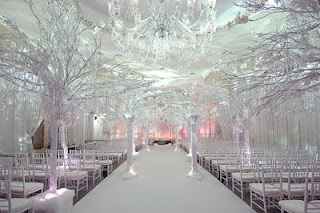 Wonderful Winter Wonderland Wedding Reception Decorations