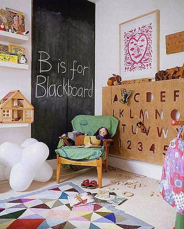 Decorar una Habitación de Niños con una Pared de Pizarra