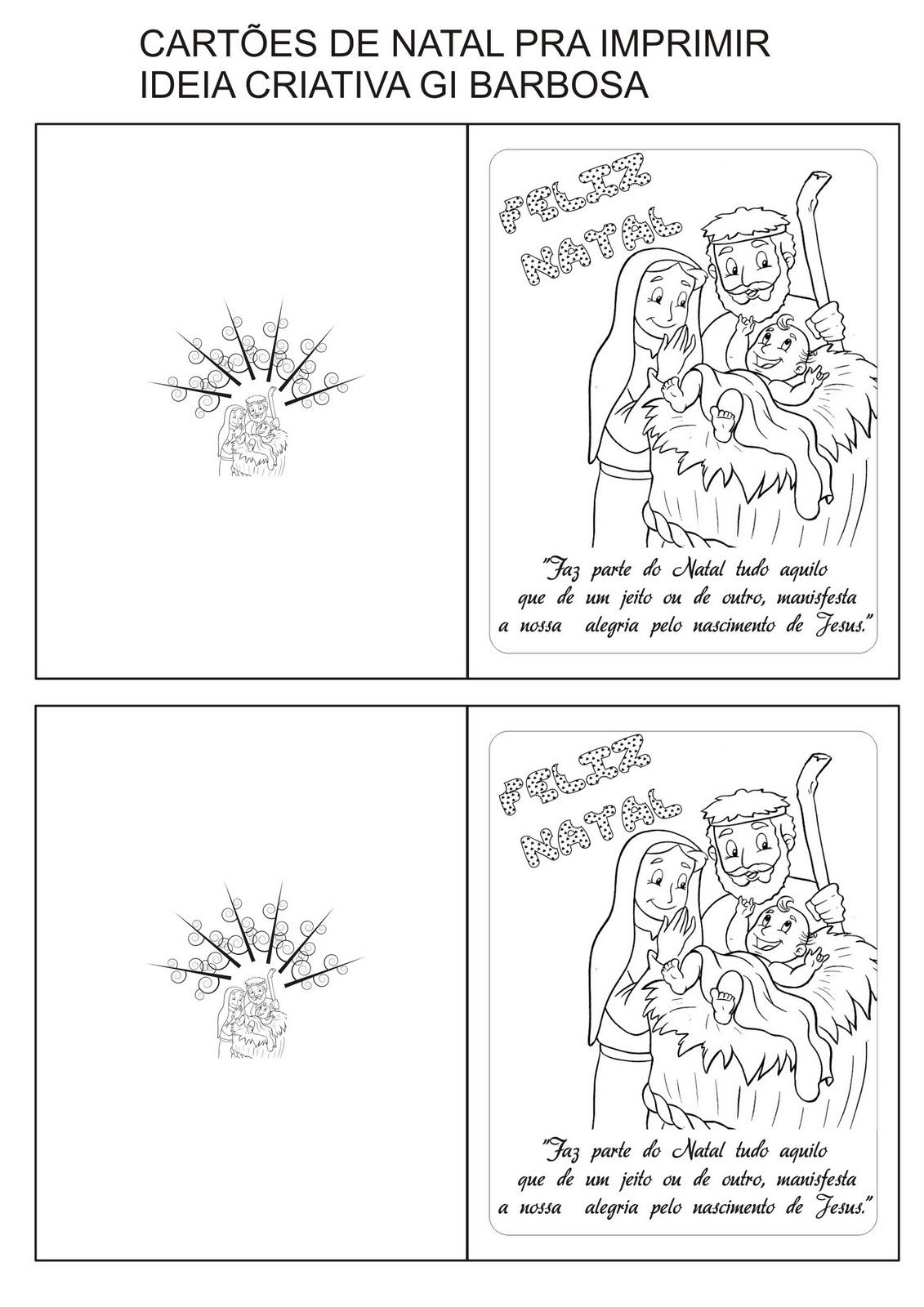 cartão natal cristão pra imprimir ideia criativa gi carvalho