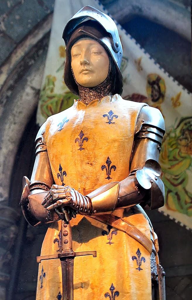 Vierge de métal Jeanne+d%2527Arc+de+la+Cath%25C3%25A9drale+de+Reims